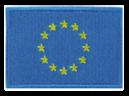 Etichete țesute cu embleme naționale