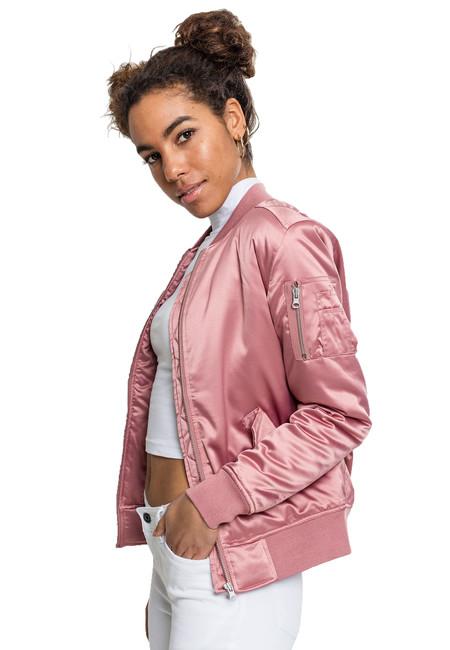Urban Classics  Geacă de damă Bomber satin, roz pal