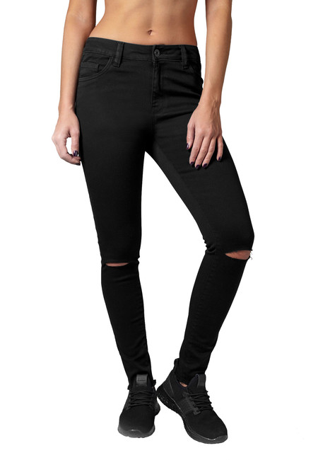 Urban Classics Cut Pantaloni de damă, negri