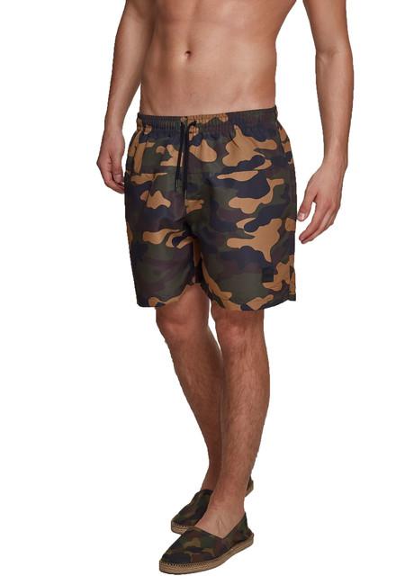 Urban Classics Pantaloni scurți bărbătești, wood camo